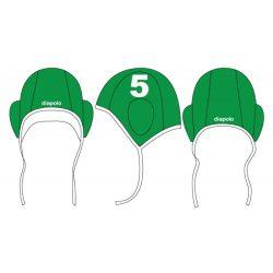 Wasserball Kappe - Grün-weiss