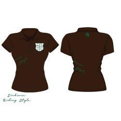 Damen Poloshirt - Design 4 gestickte