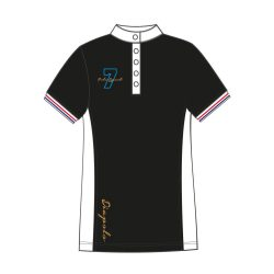 Damen Poloshirt - Avignon schwarz-weiss