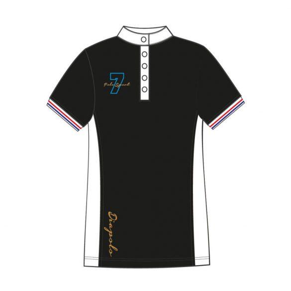 Damen Poloshirt-Avignon-schwarz/weiss