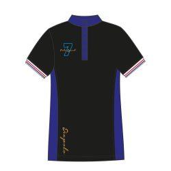 Damen Poloshirt - Avignon schwarz-royalblau