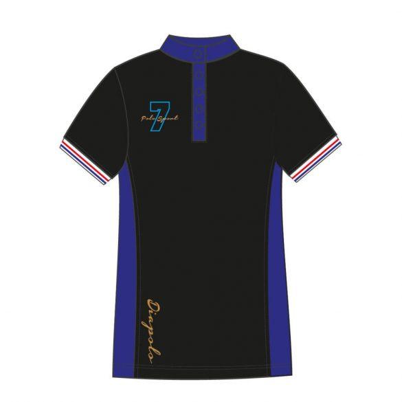Damen Poloshirt-Avignon-schwarz/königsblau