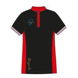 Damen Poloshirt - Avignon schwarz-rot