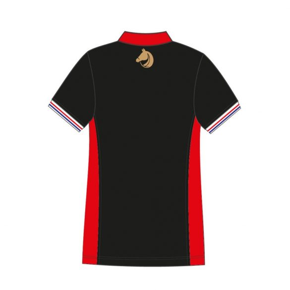 Damen Poloshirt-Avignon-schwarz/rot