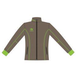 Damen Jacke Milano - Softshell grau-grün