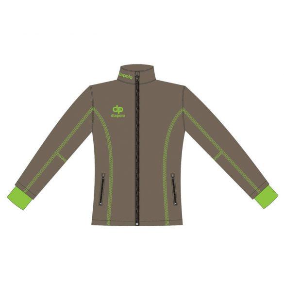 Damen Jacke Milano-Softshell grau/grün