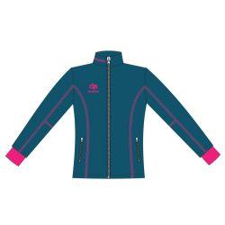 Damen Jacke Milano-Softshell königsblau/pink