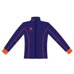 Damen Jacke Milano-Softshell navyblau/orange