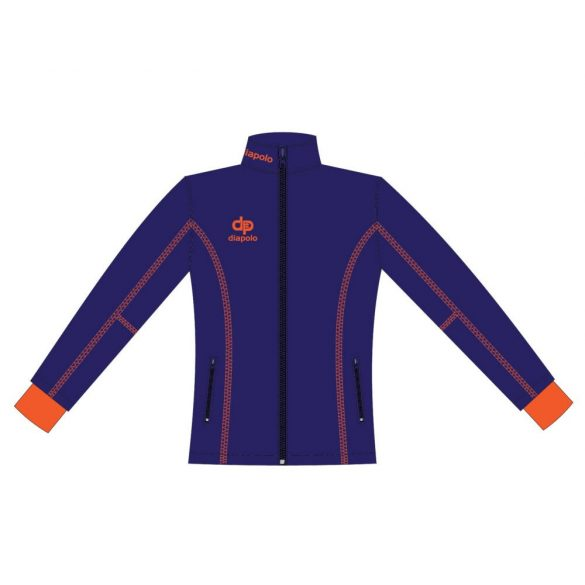 Damen Jacke Milano-Softshell navyblau/orange