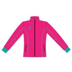 Damen Jacke Milano - Softshell pink-royalblau