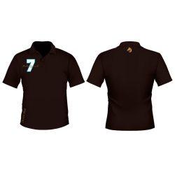 Herren Poloshirt-Diahorse Design 2 gestickten