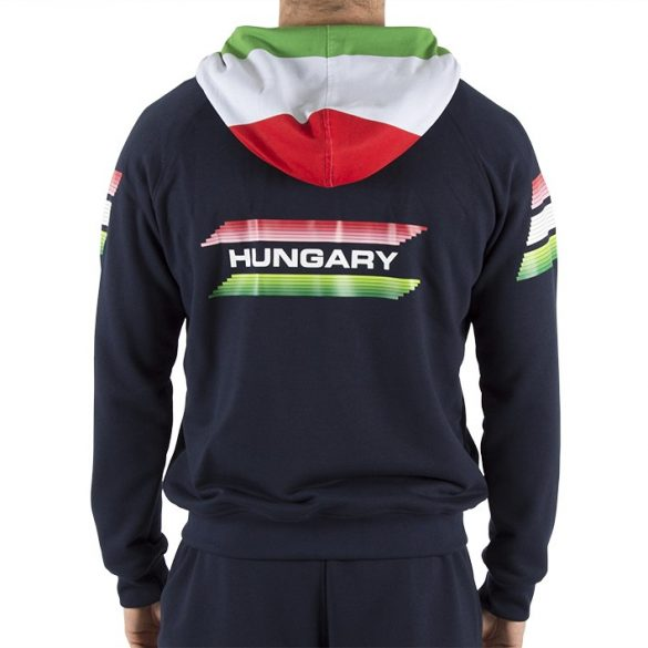Ungarische Wasserball-Nationalmannschaft-Kapuzenpullover mit Reißverschluss-navy blau