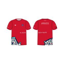 """Jug Dubrovnik-""""Duna"""" Unisex Funktion T-Shirt-rot"""