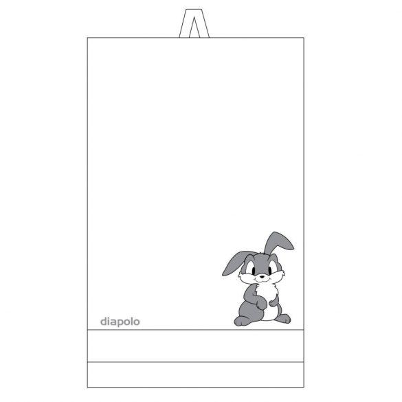 Handtuch-Weiss mit Hase gesticktene (70x140 cm)
