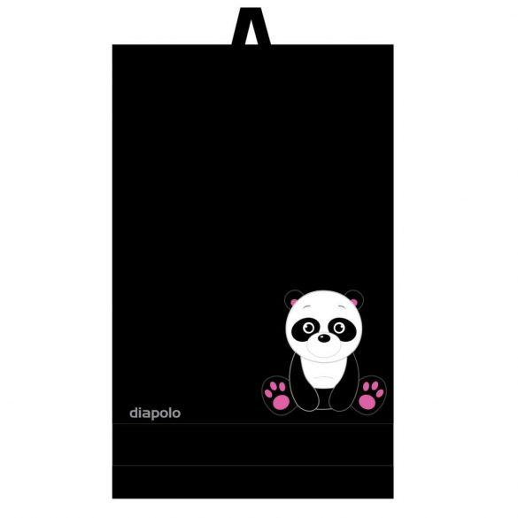 Handtuch-Schwarz mit Panda gesticktene (70x140 cm)