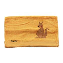 Handtuch - orange mit Panda 70x140 cm gesticken