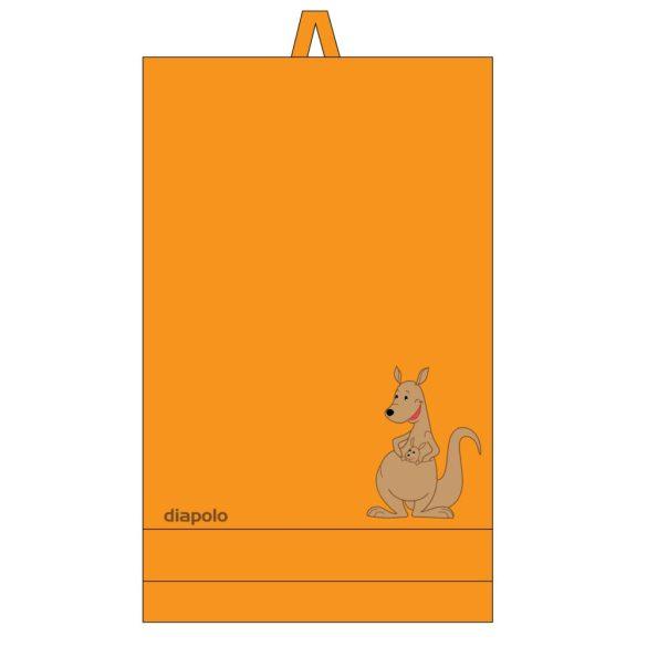 Handtuch-orange mit Panda gesticken (70x140 cm)