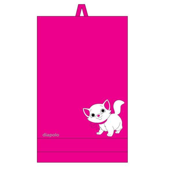 Handtuch-pink mit Katze (70x140) cm gesticken