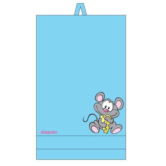 Handtuch-hellblau mit Maus (70x140 cm)