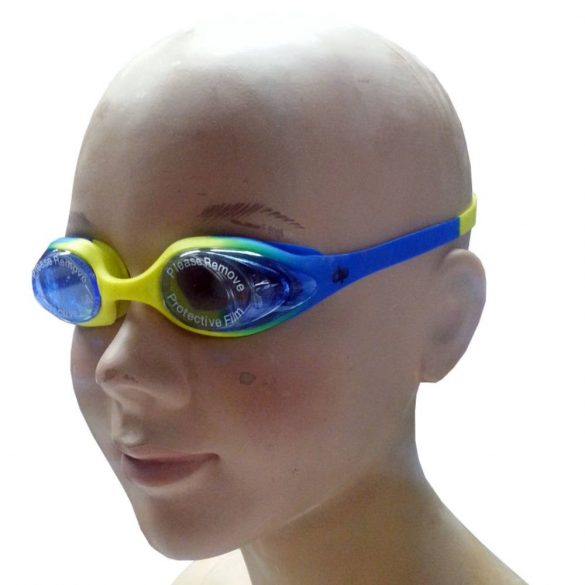 Schwimmbrille-DIKE Kinder-gelb/blau