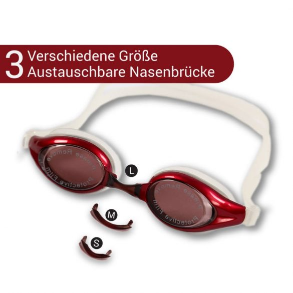 Schwimmbrille-NOX-rot
