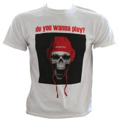 "Herren T-shirt - ""Do you wanna play?"" skull"