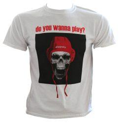 "Herren T-shirt - ""Do you wanna play?"" skull"
