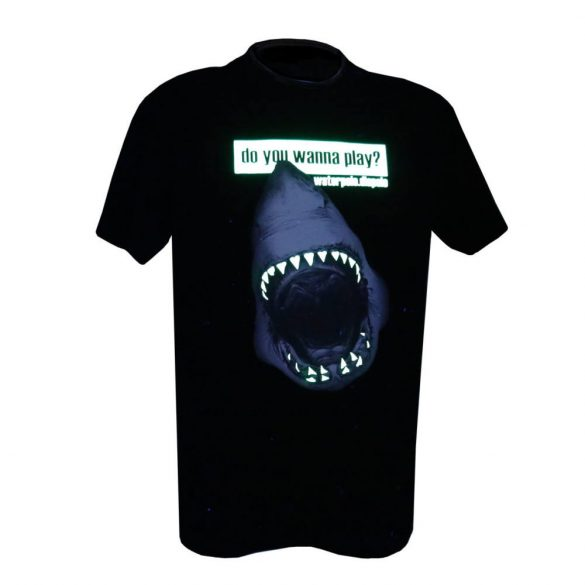 Herren T-shirt-Do you wanna play shark-fluor