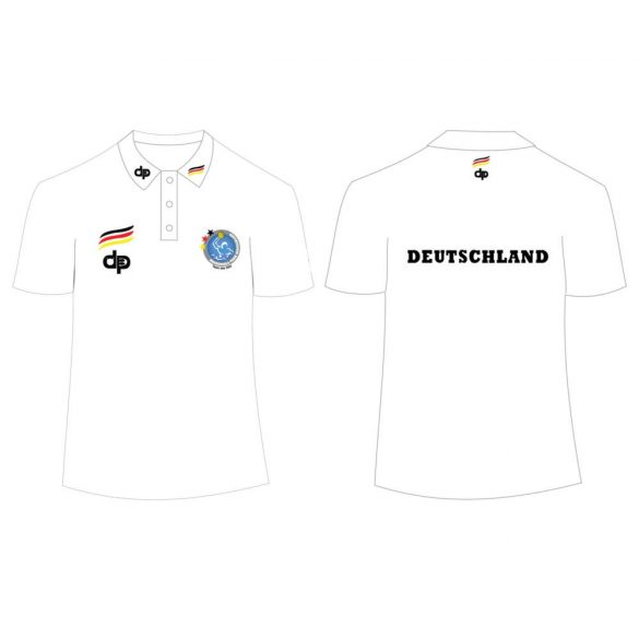 Deutsche Herren Wasserball Nationalmannschaft-Poloshirt-weiss