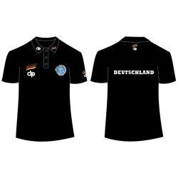 Német férfi válogatott fekete galléros póló