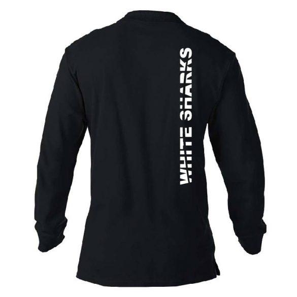 White Sharks-Poloshirt Langarm-schwarz