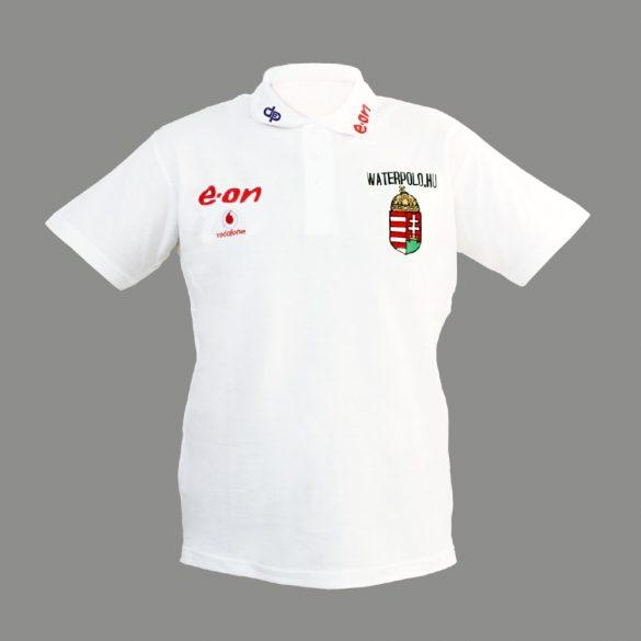 Ungarische Wasserball-Nationalmannschaft-Herren Polo-Shirt-weiss