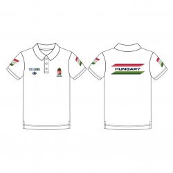 Ungarische Wasserball-Nationalmannschaft - Poloshirt weiss