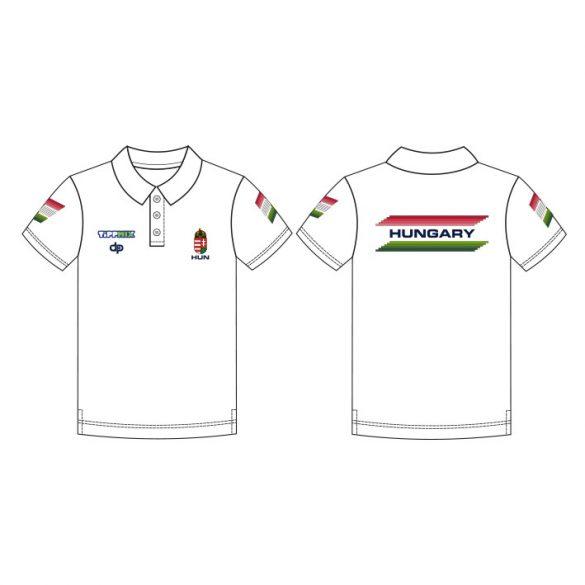 Ungarische Wasserball-Nationalmannschaft-Premium Unisex Polo-Shirt-weiss