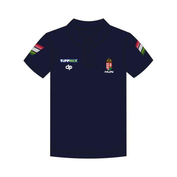 Ungarische Wasserball-Nationalmannschaft-Premium Unisex Polo-Shirt-navy blau