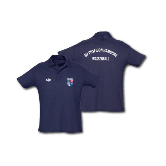 Hamburg Poseidon männlich Halsband T-Shirt