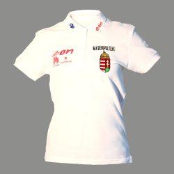 Ungarische Wasserball-Nationalmannschaft-Damen Polo-Shirt weiss