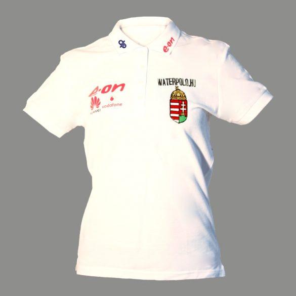 Ungarische Wasserball-Nationalmannschaft-Damen Polo-Shirt-weiss
