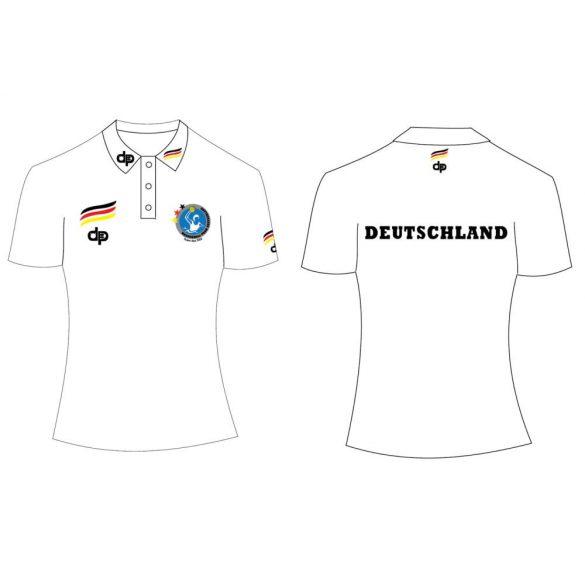 Deutsche Damen Wasserball Nationalmannschaft-Damen Poloshirt-weiss