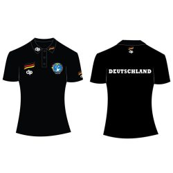 Deutsche Damen Wasserball Nationalmannschaft - Damen Poloshirt schwarz