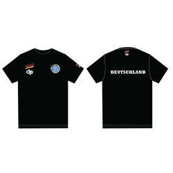 Német férfi válogatott fekete környakú póló