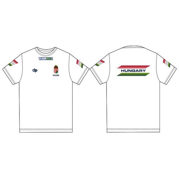 Ungarische Wasserball-Nationalmannschaft-Herren T-Shirt-weiss