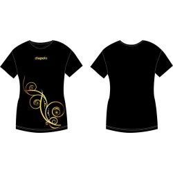 Damen T-shirt-Kovács Ági Floral Gold 1