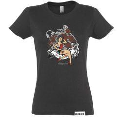 Damen T-Shirt-Tattoo Girl