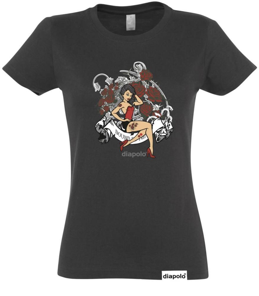 echte Qualität großhandel online Vielzahl von Designs und Farben Damen T-Shirt - Tattoo Girl