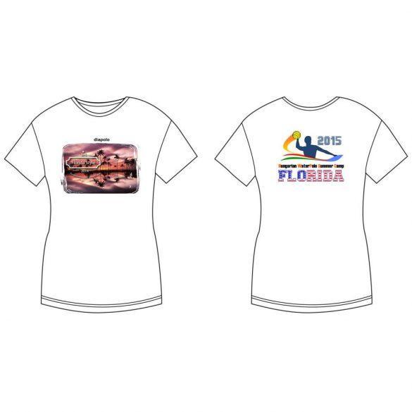 Damen T-shirt-DiapoloMania Florida palms HWPSC