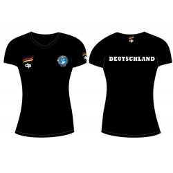 Deutsche Damen Wasserball Nationalmannschaft - Damen T-shirt schwarz