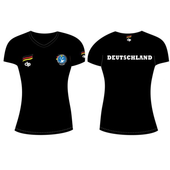 Deutsche Damen Wasserball Nationalmannschaft-Damen T-shirt-schwarz