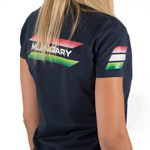 Ungarische Wasserball-Nationalmannschaft-Damen T-Shirt-blau