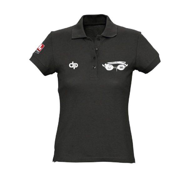 WASPO 98-Damen Poloshirt-schwarz